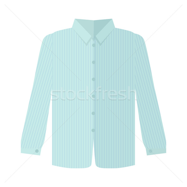 Checkered Grey Shirt Flat Style Vector Illustration Stock photo © robuart