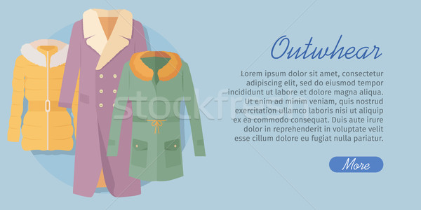 Outerwear Web Banner. Winter Collection for Woman Stock photo © robuart