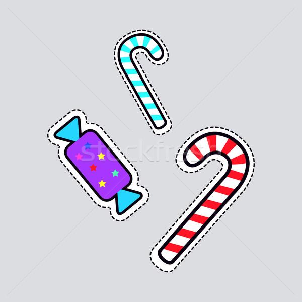Christmas Candies. Sweet Lollipops and Bonbon Stock photo © robuart