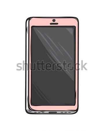 Pink Glamorous Smartphone Isolated Illustration Stock photo © robuart