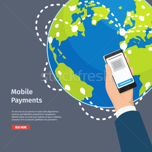 Smart Mobile Payments Instructions Illustration Stock photo © robuart