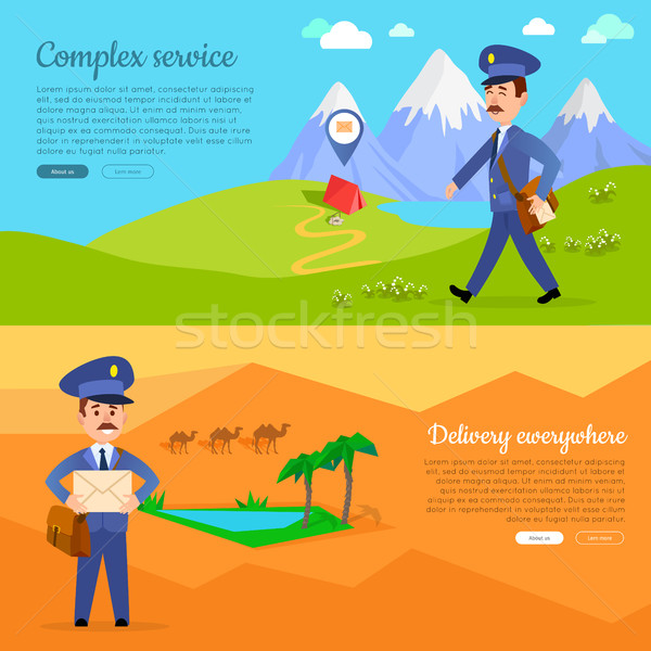 Complex Service Delivery Anywhere Web Banner. Stock photo © robuart