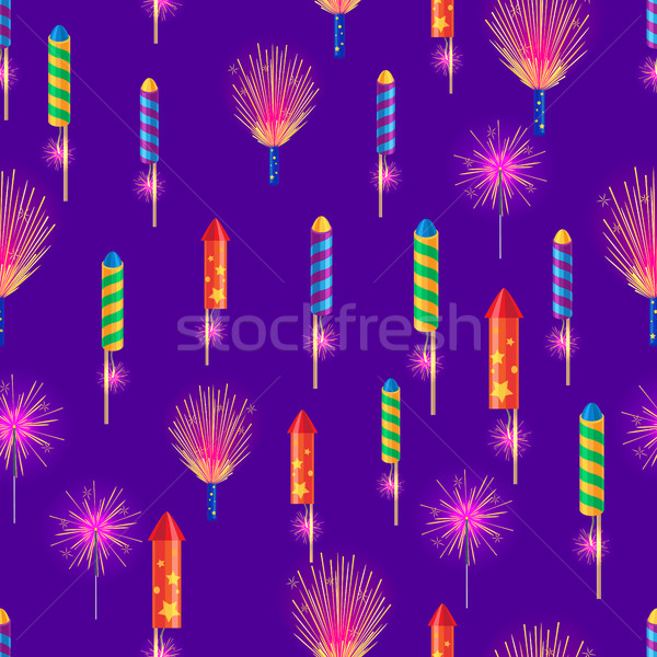 Bengal Fires, Colorful Rockets, Sparkler Fireworks Stock photo © robuart