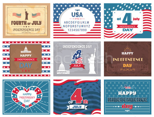 American National Holiday 4th of July Greetings Stock photo © robuart