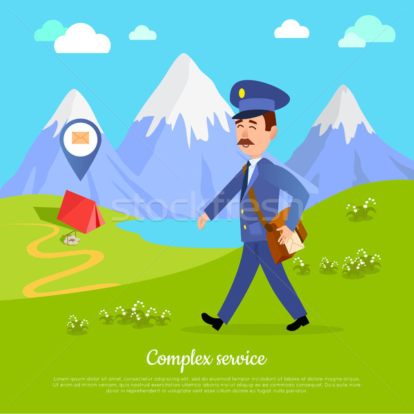 Complex Service to any Part of the World. Vector Stock photo © robuart