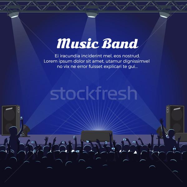 музыку группы концерта большой этап мощный Сток-фото © robuart