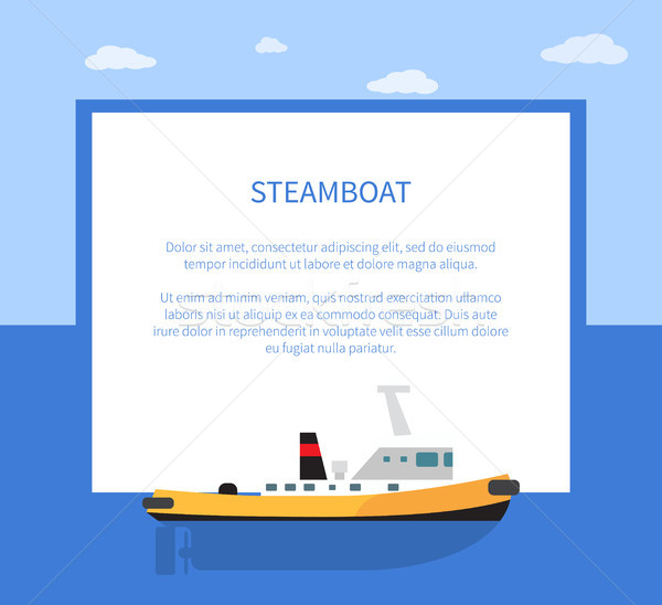 Small Steamer on Calm Water Surface, Steamboat Stock photo © robuart