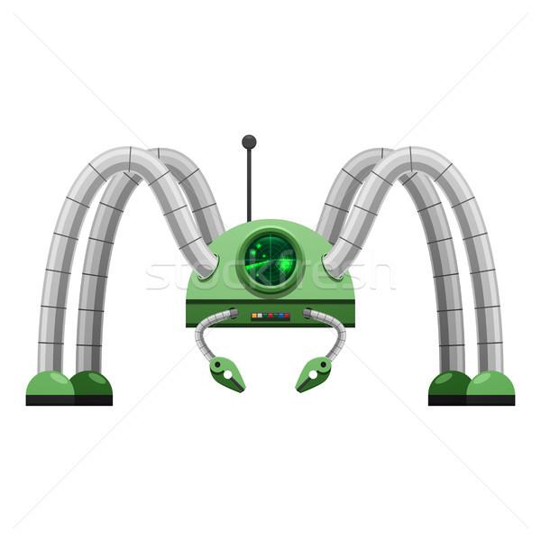 Cartoon groene robot geïsoleerd illustratie Stockfoto © robuart