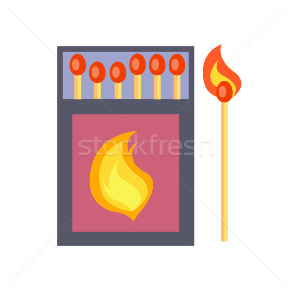 Box of Matches Isolated Illustration on White Stock photo © robuart