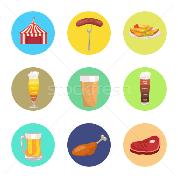 Nine Images of Octoberfest Vector Illustration Stock photo © robuart