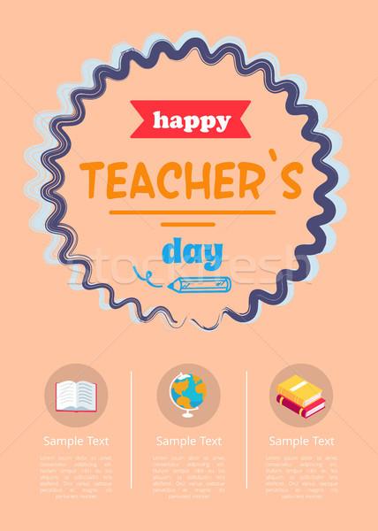 Happy Teachers Day Banner Vector Illustration Stock photo © robuart