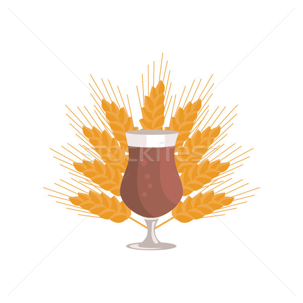 Tulip Glass of Beer Transparent Cup on Leg Vector Stock photo © robuart