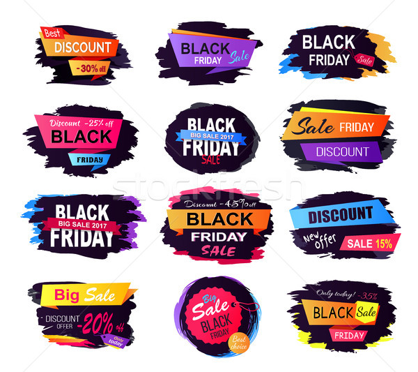 O melhor desconto black friday coleção título Foto stock © robuart