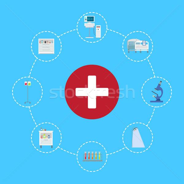 Healthcare Symbol Icon Vector Illustration Stock photo © robuart