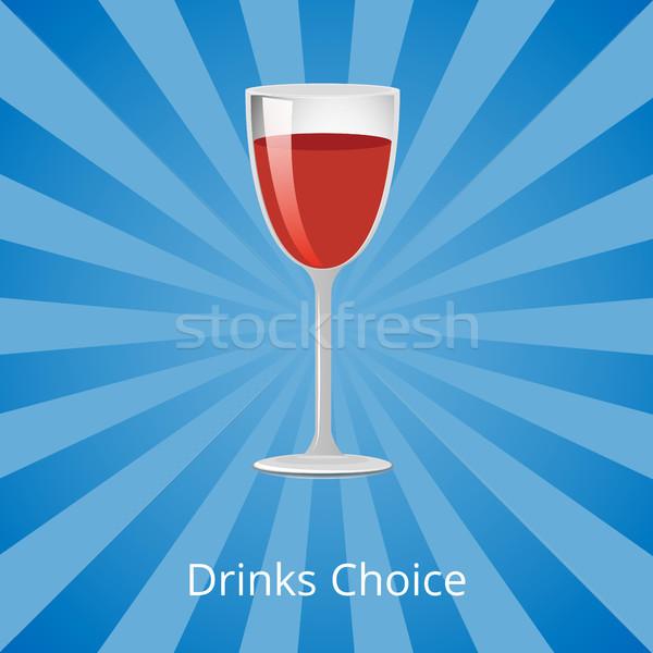 Drinks Choice Vector Illustration Shown on Blue Stock photo © robuart