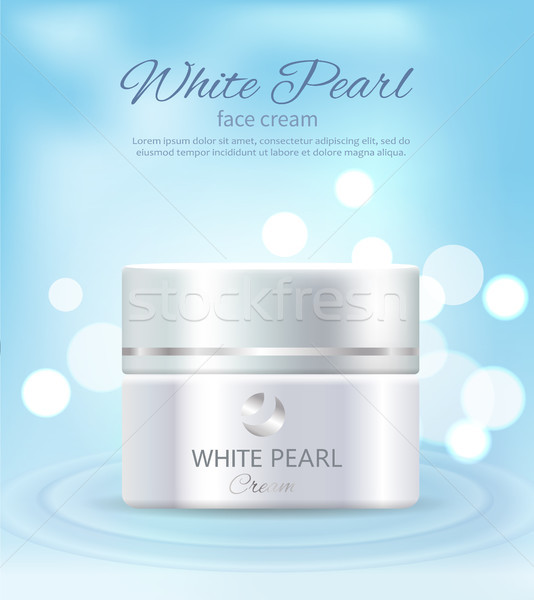 White Pearl Face Cream, Container of Cosmetics Stock photo © robuart