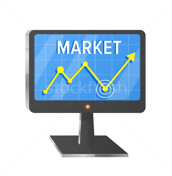 Market Illustration with Computer Screen on White Stock photo © robuart