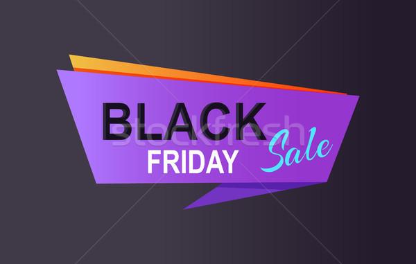 Black friday vásár promo poszter hirdetés információ Stock fotó © robuart