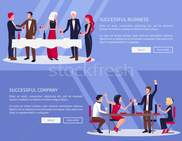 Geslaagd business bedrijf web ingesteld mensen Stockfoto © robuart