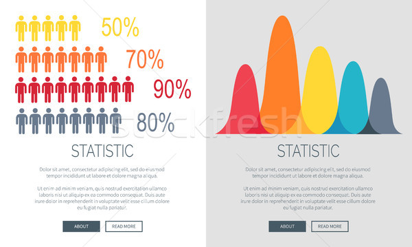 Statistic Presentation Colorful Web Page Design Stock photo © robuart