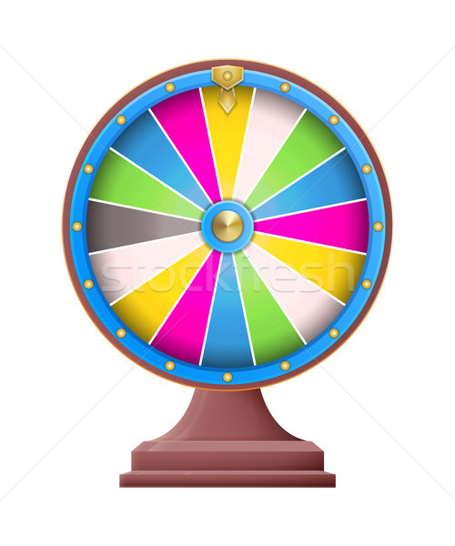 Fortune Wheel Empty Sectors Vector Illustration Stock photo © robuart