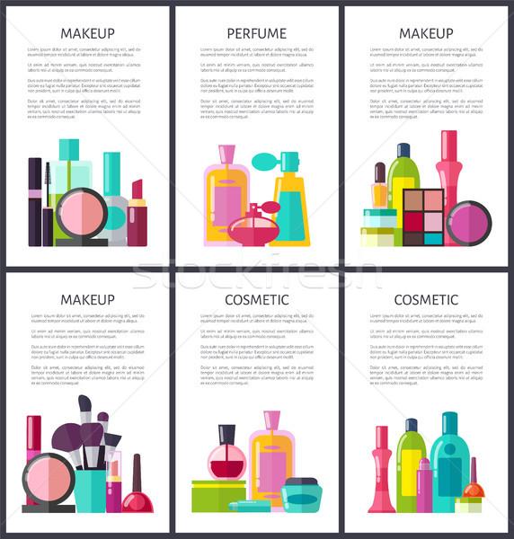 Componen perfume colección maquillaje cosméticos productos Foto stock © robuart