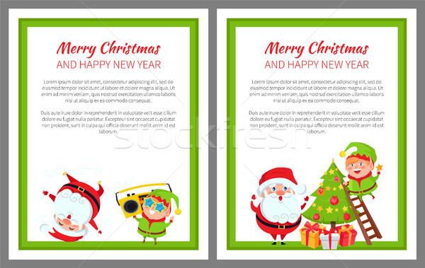 Merry Christmas Wintertime Vector Illustration Stock photo © robuart