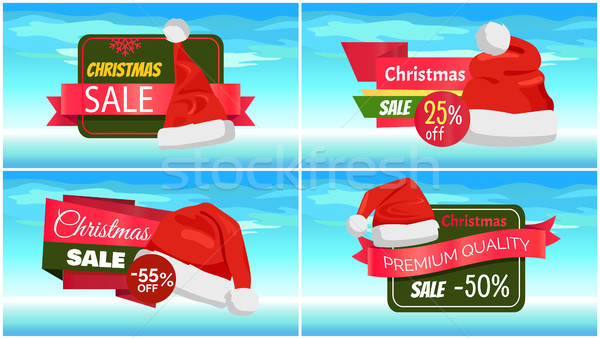 Premium Quality Half Price Christmas Sale Posters Stock photo © robuart