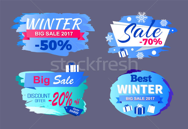 Winter Big Sale 2017 Price Discount -70 Only Today Stock photo © robuart