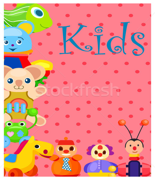 Enfants peluche plastique jouets rose Photo stock © robuart