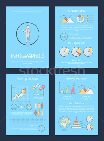 Statistics, Pie Diagram Data Vector Illustration Stock photo © robuart