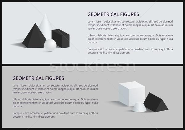 Geometrical Figures Set Banner Vector Illustration Stock photo © robuart