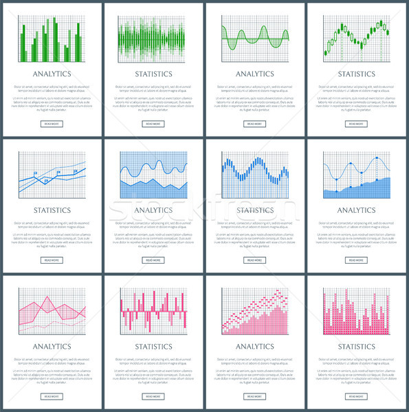 Analytics and Statistics Pages Vector Illustration Stock photo © robuart