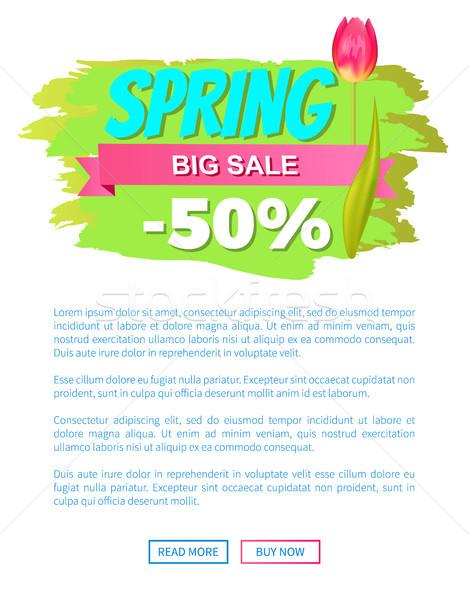 春 ビッグ 販売 50 オフ 広告 ストックフォト © robuart