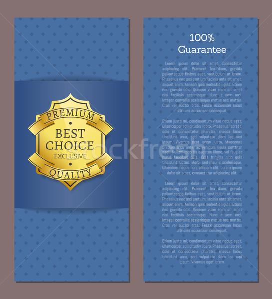 100 гарантировать Лучший выбор год эксклюзивный Label Сток-фото © robuart