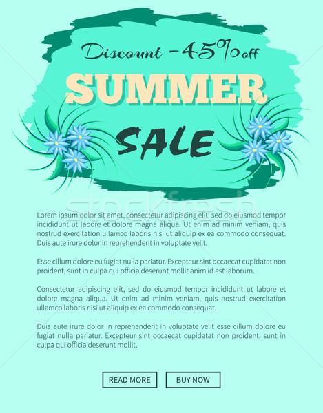 árengedmény nyár vásár promóció embléma poszter Stock fotó © robuart
