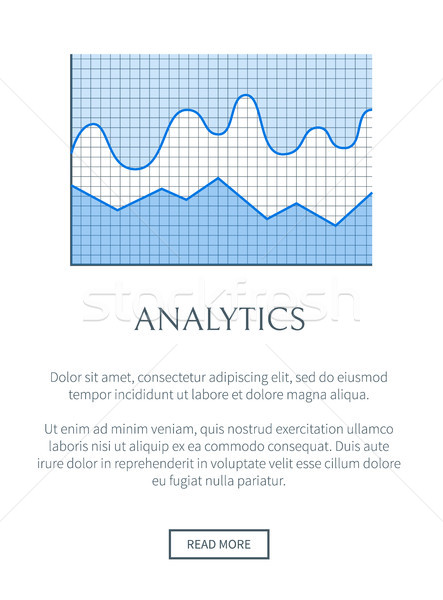 Analytics Web Page and Chart Vector Illustration Stock photo © robuart