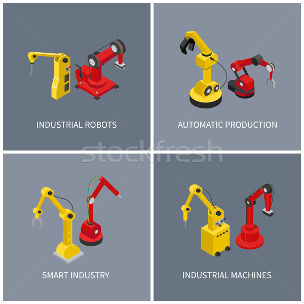 Industrial Robots and Smart Automatic Machine Set Stock photo © robuart