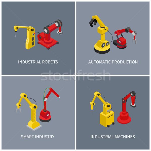 Industriële robots smart automatisch machine ingesteld Stockfoto © robuart