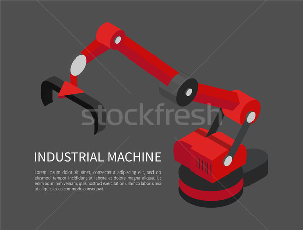 Industrial Machine Poster Vector Illustration Stock photo © robuart