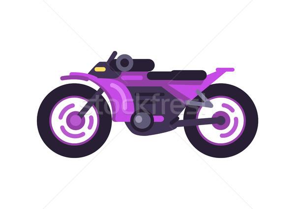 Modern Fast Sport Bike in Shiny Purple Corpus Stock photo © robuart