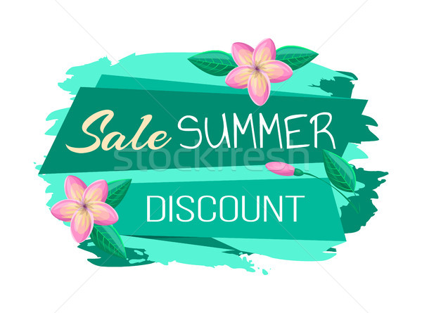Sale and Summer Discount Promo Banner with Flowers Stock photo © robuart