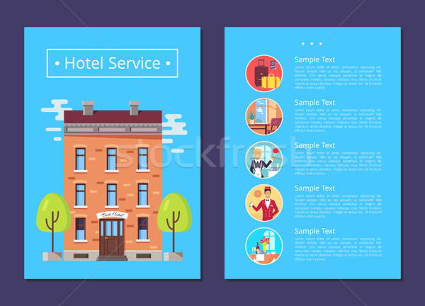Hotel Service Detailed Informative Internet Page Stock photo © robuart