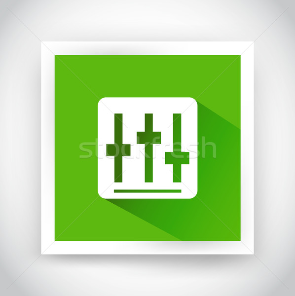 Icon of setting for web and mobile applications Stock photo © robuart