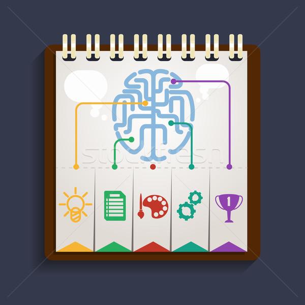 Gehirn Analyse Zwischenablage Teile verantwortlich menschlichen Stock foto © robuart