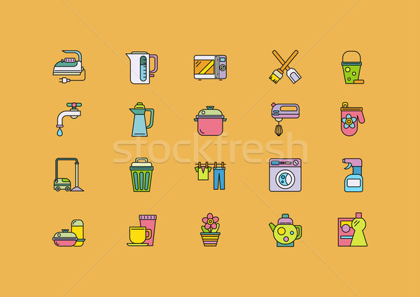 食品 料理 ツール ホーム アプライアンス セット ストックフォト © robuart