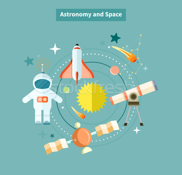 Stock photo: Astronomy and Space Web Page Design