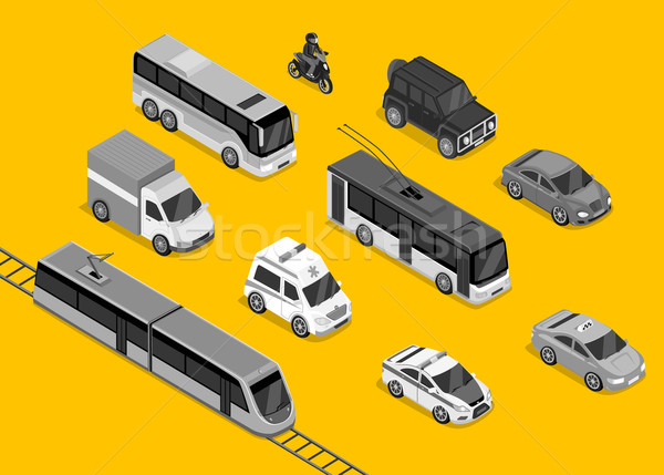 Isometric 3d Transport Set Flat Design Stock photo © robuart