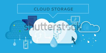 Nube stoccaggio design online Foto d'archivio © robuart