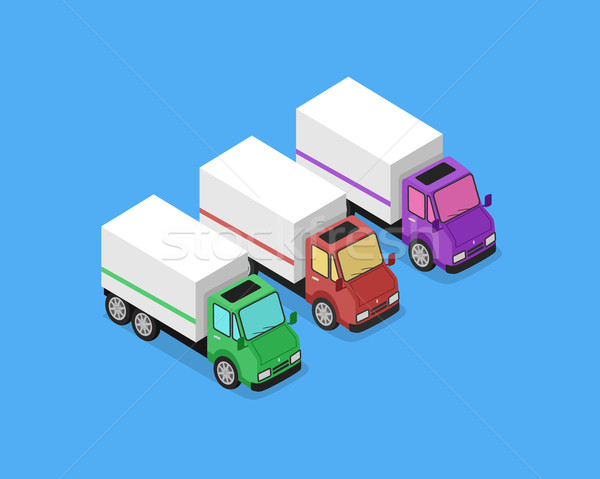 Isometric Delivery Van Car Icon Stock photo © robuart
